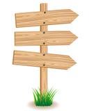 Drewniany signboard Zdjęcie Royalty Free