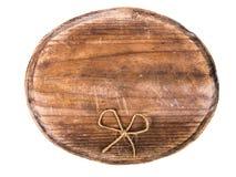 Drewniany signboard i łęk obraz stock