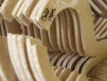 Drewniany siodłowy szablon Obraz Royalty Free