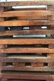 Drewniany skrzynki tło zdjęcia stock