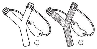 Drewniany slingshot Zdjęcie Stock