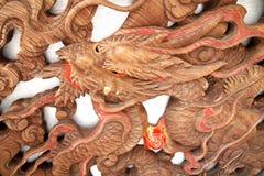 Drewniany smok Fotografia Royalty Free