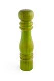 Drewniany solankowy loch odizolowywający na bielu Zdjęcia Royalty Free