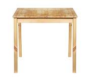Drewniany stół odizolowywający Zdjęcia Royalty Free