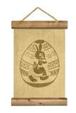 Drewniany stół z Easter jajka symbolem royalty ilustracja