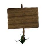 drewniany stary drogowy znak ilustracji