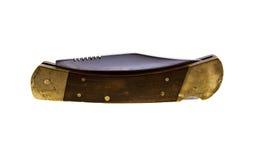 drewniany stary rękojeść nożyk Obraz Stock
