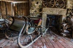 drewniany stary sanie fotografia stock