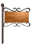drewniany stary signboard Obrazy Stock