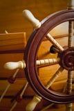 Drewniany statku sterowanie Zdjęcie Royalty Free