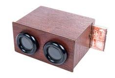 Drewniany stereoskop z szklanymi talerzami Fotografia Stock