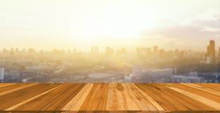 Drewniany stołowy wierzchołek fotografia royalty free