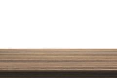 Drewniany Stołowy wierzchołek Na Odosobnionym Białym tle Obrazy Royalty Free