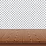 drewniany stołowy wierzchołek na tle ilustracja wektor
