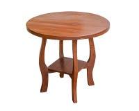 Drewniany stołowy round Zdjęcie Royalty Free