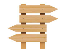 Drewniany strzała znak Fotografia Royalty Free