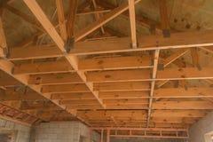 Drewniany sufit, budynek w Nowa Zelandia Zdjęcie Stock