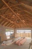 Drewniany sufit, budynek w Nowa Zelandia Obrazy Royalty Free