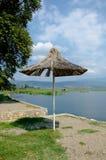 Drewniany sunshade Zdjęcia Royalty Free