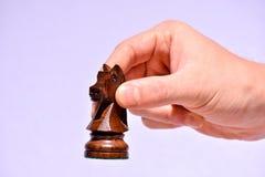 Drewniany szachowy kawałek Zdjęcia Royalty Free