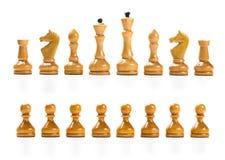 drewniany szachowy set Zdjęcia Stock
