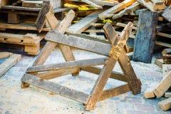 Drewniany szafot w jardzie Fotografia Stock
