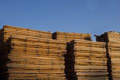 Drewniany Drewniany szalunek budowy materia Fotografia Royalty Free