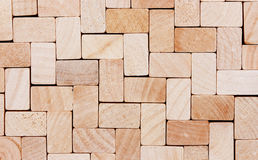 Drewniany sześcianu tło Zdjęcie Stock