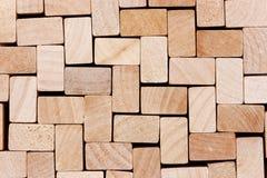 Drewniany sześcianu tło Zdjęcia Royalty Free