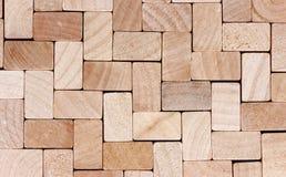 Drewniany sześcianu tło Fotografia Royalty Free