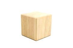 drewniany sześcianu blok Obraz Stock