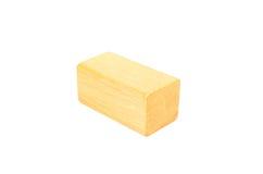 drewniany sześcianu blok Obrazy Royalty Free