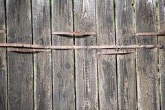 Drewniany szorstki płotowy tło Zdjęcie Royalty Free