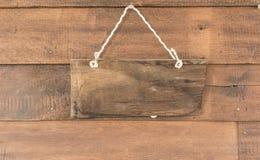 Drewniany sztandar obrazy royalty free