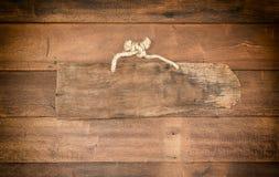 Drewniany sztandar zdjęcie stock