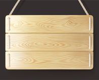 Drewniany szyldowy drewno z arkaną Obrazy Royalty Free