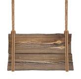 Drewniany szyldowy obwieszenie na dwoistej arkanie Zdjęcia Stock