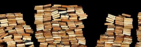 Drewniany tło element i odizolowywa odcinał dla bezszwowego wzoru Obrazy Royalty Free