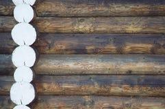 Drewniany tło naturalny loguje się wioskę obraz stock