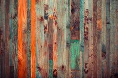 Drewniany tło od końcówek stare deski stonowany Obraz Stock