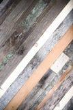 Drewniany tło od końcówek stare deski stonowany Fotografia Royalty Free