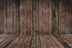 Drewniany tło perspcetive i tekstura Zdjęcia Stock