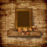 drewniany tło rocznik piękny ramowy Zdjęcie Stock