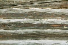 Drewniany tło Tekstura z starym, nieociosany, brąz zaszaluje Zdjęcie Stock