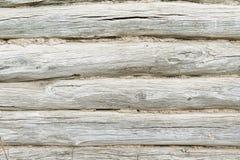 Drewniany tło Tekstura z starym, nieociosany, brąz zaszaluje Zdjęcia Royalty Free
