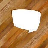 Drewniany tło z mowa bąblem. + EPS8 Fotografia Stock