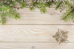 Drewniany tło z ramą na wierzchołku Bez winiety, ty c Fotografia Stock