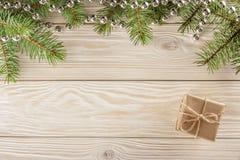 Drewniany tło z ramą na wierzchołku Bez winiety, ty c Zdjęcia Stock