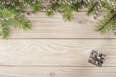 Drewniany tło z ramą na wierzchołku Bez winiety, ty c Fotografia Royalty Free