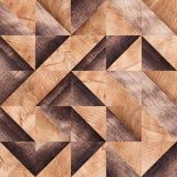 Drewniany tło, kwadrata abstrakta wzór Zdjęcie Royalty Free